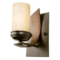 Varaluz Aizen 1 Light Vanity in Hammered Ore w/ Aspen Bronze Accents 112B01B