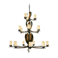 Varaluz Aizen 18 Light Chandelier in Hammered Ore w/ Aspen Bronze Accents 112C18B photo thumbnail