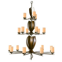 Varaluz Aizen 18 Light Chandelier in Hammered Ore w/ Aspen Bronze Accents 112C18C photo thumbnail