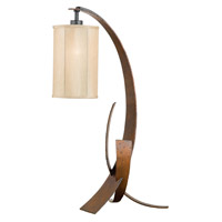 Varaluz Aizen 1 Light Table Lamp in Hammered Ore w/ Aspen Bronze Accents 112T01