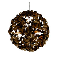 Pinwheel 3 Light 16 inch Painted Chocolate Bronze Pendant Ceiling Light