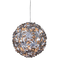 Pinwheel 9 Light 28 inch Recycled Aluminum Pendant Ceiling Light