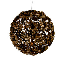 Varaluz Pinwheel 9 Light Pendant in Painted Chocolate Bronze 124P09LBZ