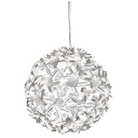 Pinwheel 9 Light 24 inch Recycled Aluminum Pendant Ceiling Light