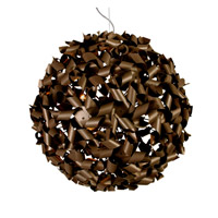 Pinwheel 9 Light 24 inch Painted Chocolate Bronze Pendant Ceiling Light