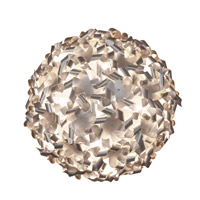 Varaluz 124S08 Pinwheel 8 Light 27 inch Recycled Aluminum Semiflush Ceiling Light