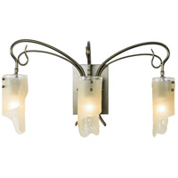 Soho 3 Light 23 inch Statue Garden Vanity Wall Light in Recycled Brown Tint Ice