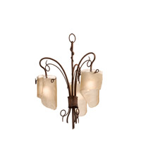 Varaluz Soho 3 Light Chandelier in Hammered Ore 126C03HO