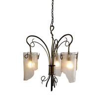 Varaluz Soho 3 Light Chandelier in Statue Garden 126C03SG