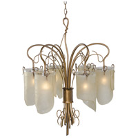 Varaluz Soho 6 Light Chandelier in Hammered Ore 126C06HO