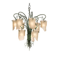 Varaluz Soho 9 Light Chandelier in Natura 126C09 photo thumbnail