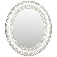 Masquerade 38 X 32 inch Pearl Mirror Home Decor, Oval
