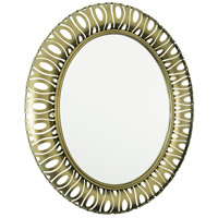 Masquerade 38 X 32 inch Statue Garden Mirror Home Decor, Oval