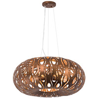 Masquerade 5 Light 24 inch Hammered Ore Pendant Ceiling Light