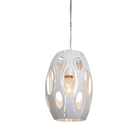 Varaluz Masquerade 1 Light Mini Pendant in Pearl 149M01PE