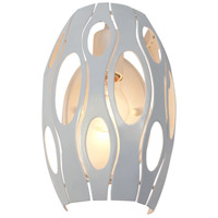 Varaluz 149W01PE Masquerade 1 Light 8 inch Pearl Sconce Wall Light
