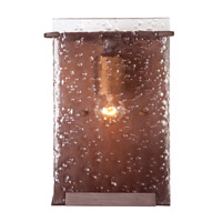 Rain 1 Light 7 inch Hammered Ore Vanity Wall Light