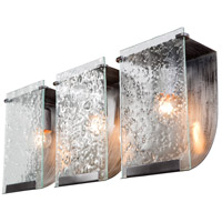 Varaluz Rain 3 Light Vanity in Rainy Night 160B03