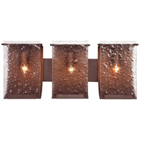 Rain 3 Light 23 inch Hammered Ore Vanity Wall Light