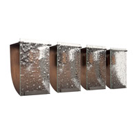 Varaluz 160B04HO Rain 4 Light 32 inch Hammered Ore Vanity Wall Light alternative photo thumbnail