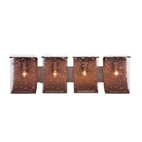 Rain 4 Light 32 inch Hammered Ore Vanity Wall Light