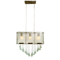 Varaluz Rain 3 Light Linear Pendant in Rainy Night 160N03RND