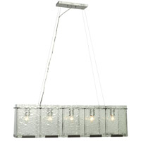 Varaluz Rain 5 Light Linear Pendant in Rainy Night 160N05RN