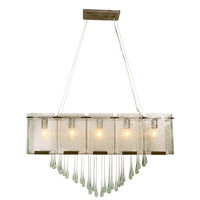 Varaluz Rain 5 Light Linear Pendant in Rainy Night 160N05RND