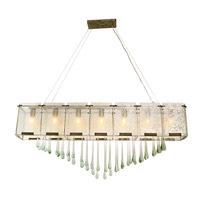 Varaluz Rain 7 Light Linear Pendant in Rainy Night 160N07RND