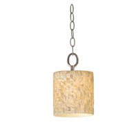 Varaluz Naturals 1 Light Mini Pendant in Terra Silver 161M01