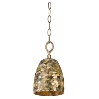 Varaluz Naturals 1 Light Mini Pendant in Terra Silver 162M01