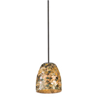 Varaluz Naturals 1 Light Mini Pendant in Matte Black 162M01ST
