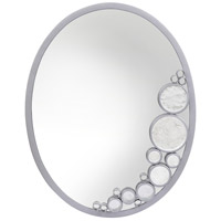 Fascination 30 X 22 inch Metallic Silver Wall Mirror Home Decor, Oval, Varaluz Casa