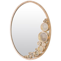 Fascination 30 X 22 inch Zen Gold Wall Mirror Home Decor, Varaluz Casa