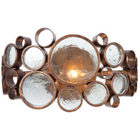 Varaluz 165B01HO Fascination 1 Light 14 inch Hammered Ore Vanity Wall Light in Recycled Clear Bottle Glass