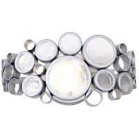 Varaluz 165B01MS Fascination 1 Light 14 inch Metallic Silver Vanity Wall Light Recycled Clear Glass