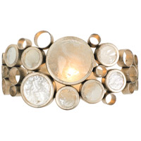 Fascination 1 Light 14 inch Zen Gold Vanity Wall Light in Recycled Champagne Bottle Glass