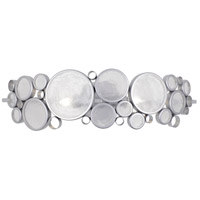 Fascination 2 Light 25 inch Metallic Silver Vanity Wall Light, Recycled Clear Glass