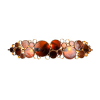 Fascination 3 Light 34 inch Kolorado Vanity Wall Light in Recycled Amber Bottle Glass
