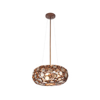 Fascination 3 Light 18 inch Hammered Ore Pendant Ceiling Light