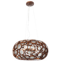 Varaluz 165C04HO Fascination 4 Light 24 inch Hammered Ore Chandelier Ceiling Light photo thumbnail