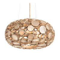 Fascination 4 Light 24 inch Zen Gold Pendant Ceiling Light