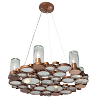 Varaluz Fascination 6 Light Chandelier in Hammered Ore 165C06HO