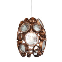 Varaluz Fascination 1 Light Mini Pendant in Hammered Ore 165M01HO