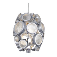 Fascination 1 Light 7 inch Metallic Silver Pendant Ceiling Light