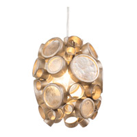 Varaluz Fascination 1 Light Mini Pendant in Zen Gold with Champagne Glass 165M01ZG