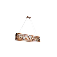 Varaluz Fascination 5 Light Linear Pendant in Hammered Ore 165N05HO