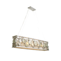 Varaluz 165N05NV Fascination 5 Light 48 inch Nevada Silver with Random Silver Leafing Linear Pendant Ceiling Light alternative photo thumbnail