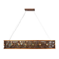 Varaluz Fascination 6 Light Linear Pendant in Hammered Ore 165N06HO photo thumbnail