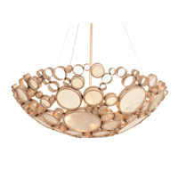 Fascination 4 Light 27 inch Zen Gold Pendant Ceiling Light
